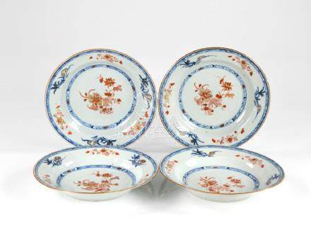 FOUR CHINESE EXPORT PORCELAIN DISHES