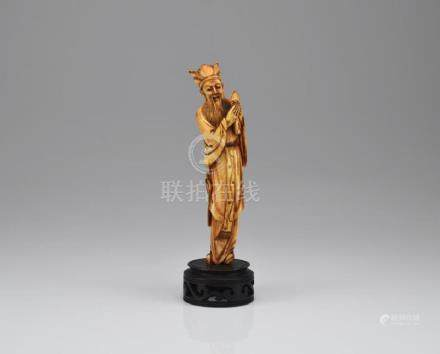 CHINESE IVORY CARVED IMMORTAL FIGURE