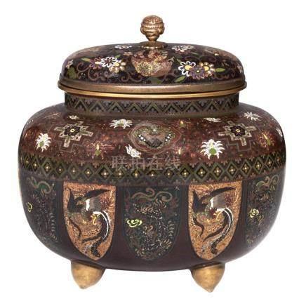 Japanese Cloisonné Covered Vase