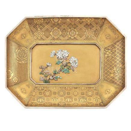 Japanese Cloisonné Inlaid Lacquer Dish