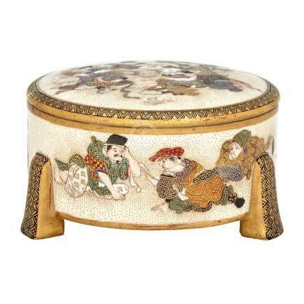 Japanese Satsuma Covered Box