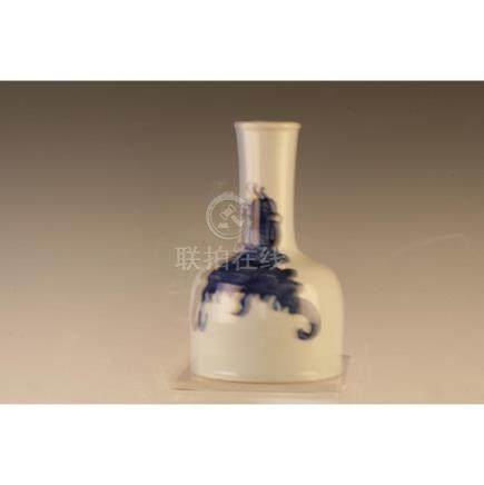 Blue And White Bell Shaped Vase