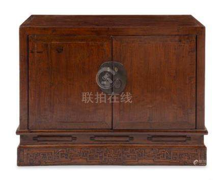 * A Large Chinese Hardwood Cabinet and Stand, Gui