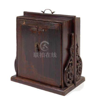 * A Chinese Hardwood Traveling Scholar's Bookcase,