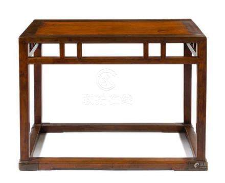 * A Chinese Mixed Hardwood Side Table, Zhuo Height 31 x