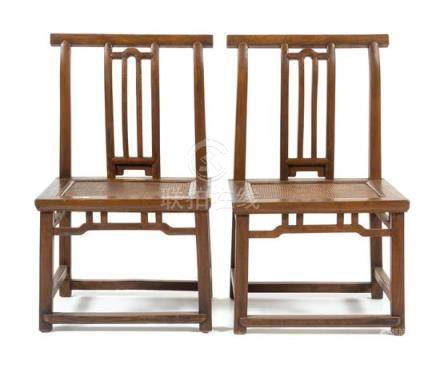 * A Pair of Chinese Jumu Side Chairs, Kaobeiyi Each