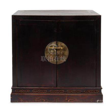 * A Chinese Hardwood Chest, Gui Height 36 x width 36 x