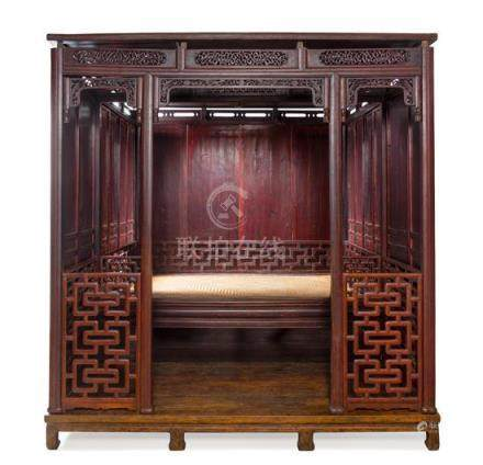 * A Large Chinese Hongmu Ten-Post Canopy Bed,