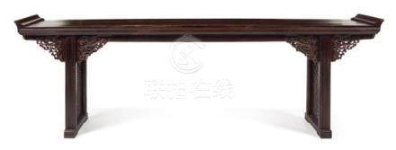 * A Large Chinese Hongmu Altar Table Qiaotou'an Height