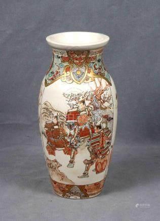 Jarrón japonés en porcelana SATSUMA, época 1920-19