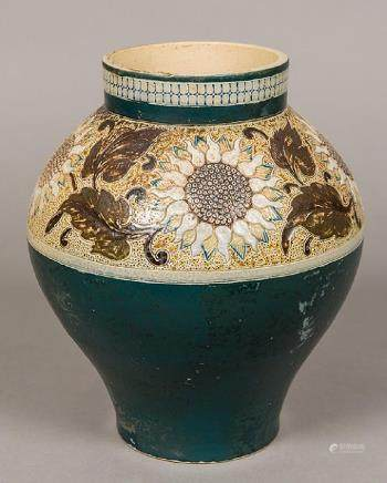 A Victorian Martin Brothers pottery vase Of baluster