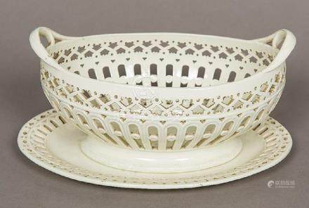 A late 18th/early 19th century Staffordshire creamware