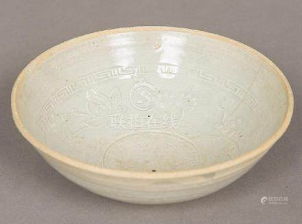 A Chinese Yuan type pottery bowl The interior relief