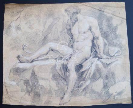 GRAPHITE ON PAPER ITALIAN MASTER 17TH CENTURY