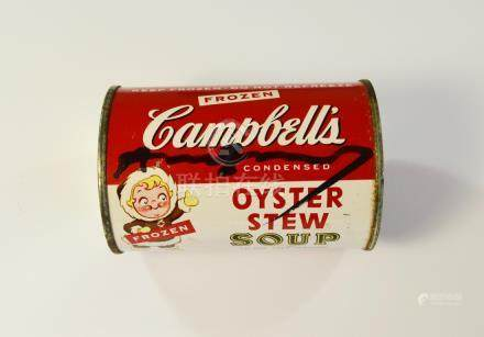 ANDY WARHOL OYSTER STEW SOUP CAN CAN CA 1980'S