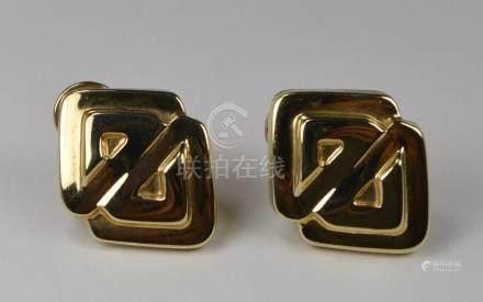 EARRINGS, 14 KT GOLD