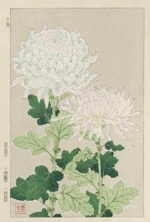 Lot: 8 Shin-Hanga von Shodo Kawarazaki (1889–1973) Farbholzschnitt. Verleger Unsodo. Zweite