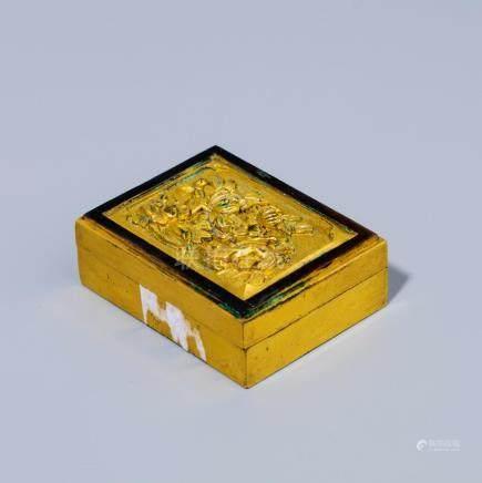A Chinese Gilt Bronze Copper Box