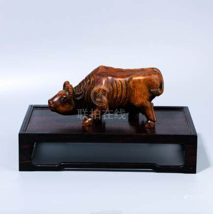 Bamboo Carving Cow