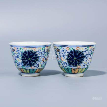 A Chinese Blue and white cups.