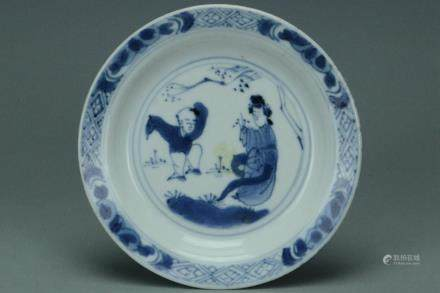CHRISTIE'S QING DYNASTY DISH KANGXI PERIOD