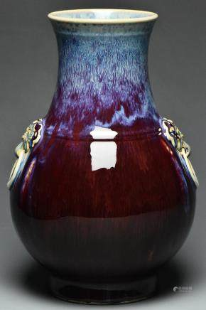 A QING DYNASTY FLAMBE-GLAZED VASE YONGZHENG MARK
