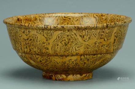A SONG DYNASTY MARBLED BOWL