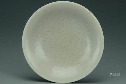 A NORTHERN SONG DYNASTY DINGYAO LOTUS DISH & BOX