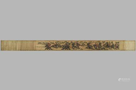 HUANG GONG WANG(1269-1354), LONG SCROLL PAINTING