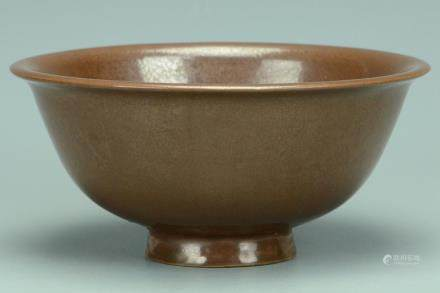 A SONG DYNASTY YAOZHOU PERSIMMON GLAZED BOWL