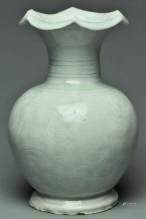 A SONG DYNASTY QINGBAI BALUSTER VASE