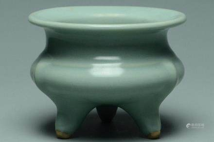 A SONG DYNASTY LONGQUAN CELADON CENSER