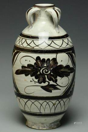 A YUAN DYNASTY PAINTED CIZHOU WINE JAR
