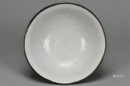 A SHUFU WHITE GLAZED BOWL