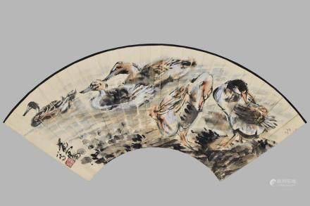 HUANG ZHOU(1925-1997) FAN LEAF
