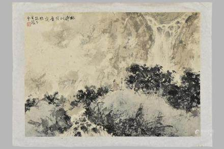 FU BAO SHI(1904-1965), INK AND COLOR ON PAPER