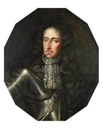 Manner of Sir Godfrey Kneller, 19th Century Portrait of William III, bust-length, in armour
