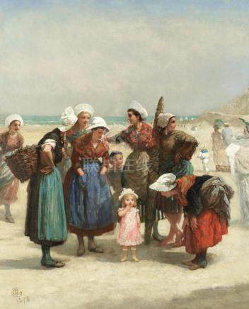 Albert Ludovici, Snr. (British, 1820-1894) Breton fisher folk