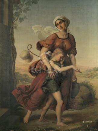 """Emma Gaggiotti-Richards (Italian, 1825-1912) """"Expulsion of Hagar and Ishmael"""""""