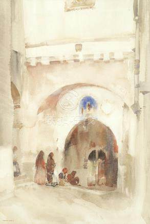 William Russell Flint (British, 1880-1969) The street of arches