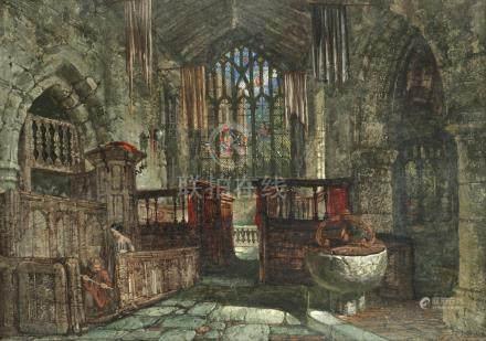 Louise J. Rayner (British, 1832-1924) Haddon Hall Chapel