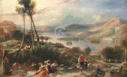 Attributed to Henry Andrews (British, 1794-1868) Fête champêtre