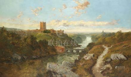 Edmund John Niemann (British, 1813-1876) A view of Richmond, Yorkshire
