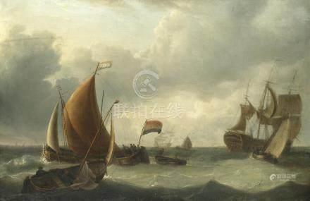 Manner of Charles Martin Powell Dutch shipping scene