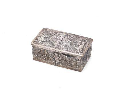 A Karl Griesbaun silver singing bird box German, early 20th century,