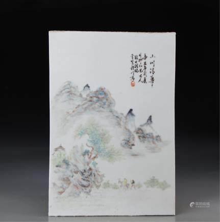 CHINESE QIANJIANG PORCELAIN PLAQUE