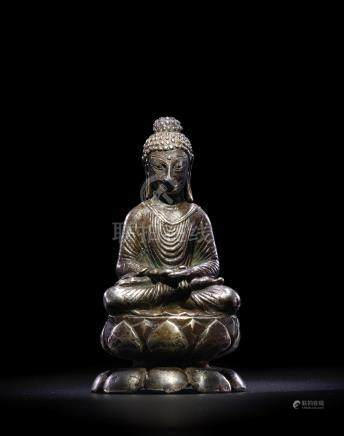 A SILVER FIGURE OF BUDDHA SWAT VALLEY, 7TH/8TH CENTURY