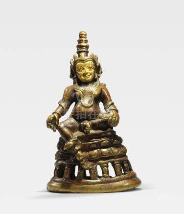 A COPPER ALLOY FIGURE OF JAMBHALA TIBET, 11TH/12TH CENTURY