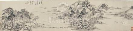 奚岡 1746 - 1803 柳溪垂釣