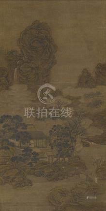 佚名 (清) 妻楳子鶴圖